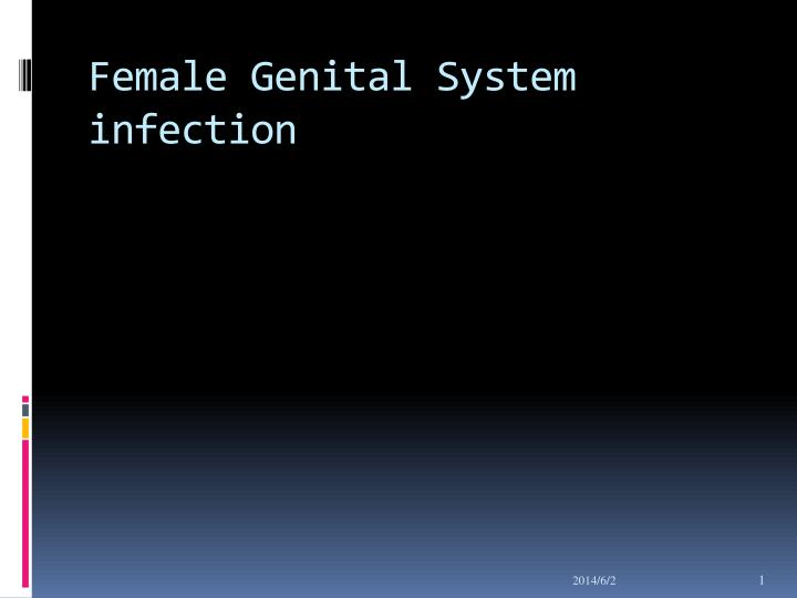 female genital system infection n.