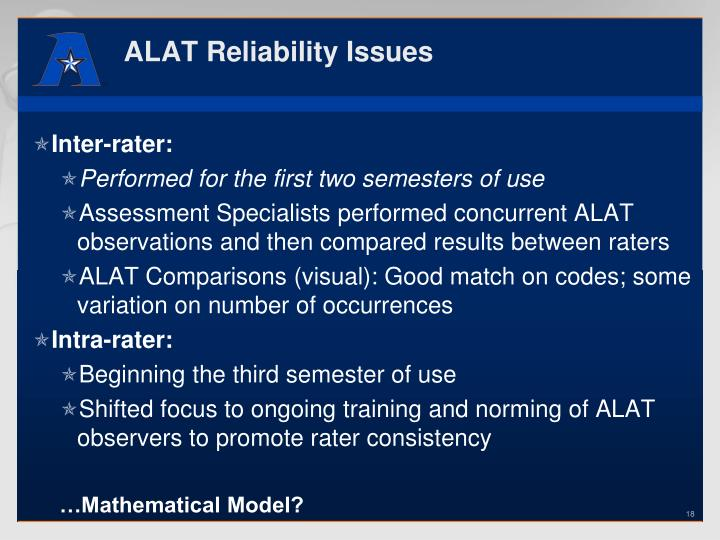 ALAT Reliability Issues