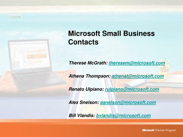 Microsoft Small Business Contacts