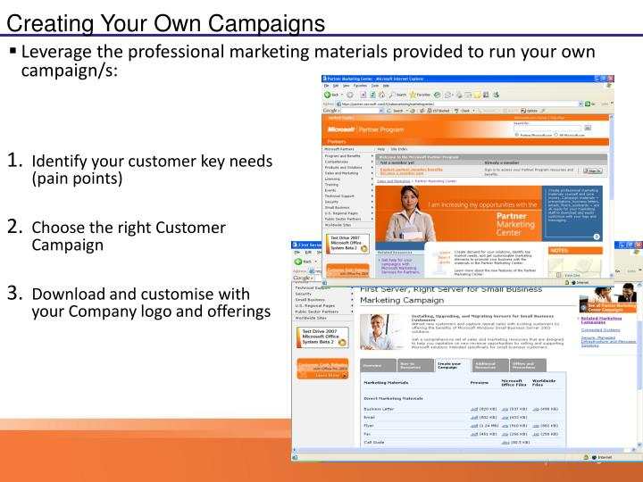 Creating Your Own Campaigns