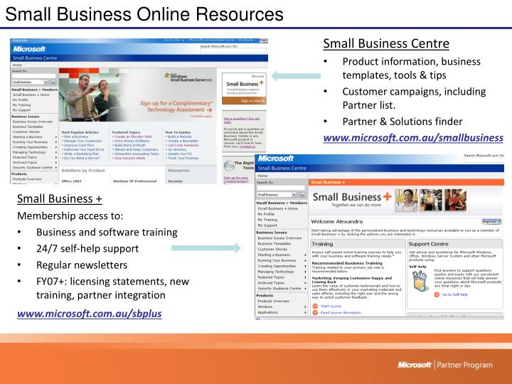 Small Business Online Resources