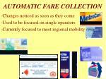 automatic fare collection