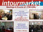 meetings events of itm 200811
