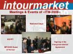meetings events of itm 200812