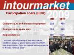 participation costs eur