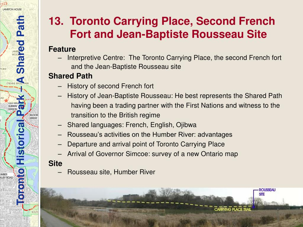 13.  Toronto Carrying Place, Second French