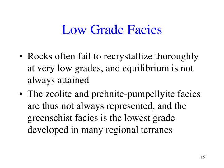 Low Grade Facies