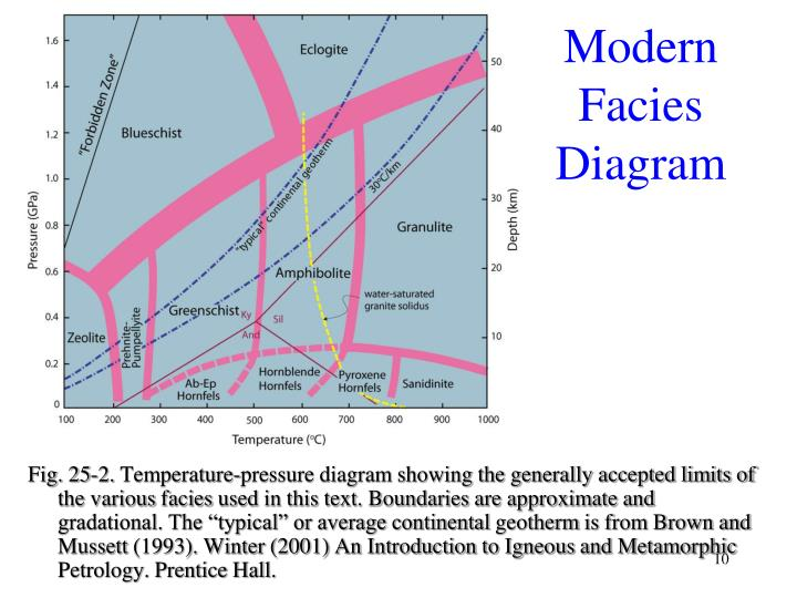 Modern Facies Diagram