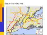 daily vehicle traffic 1998
