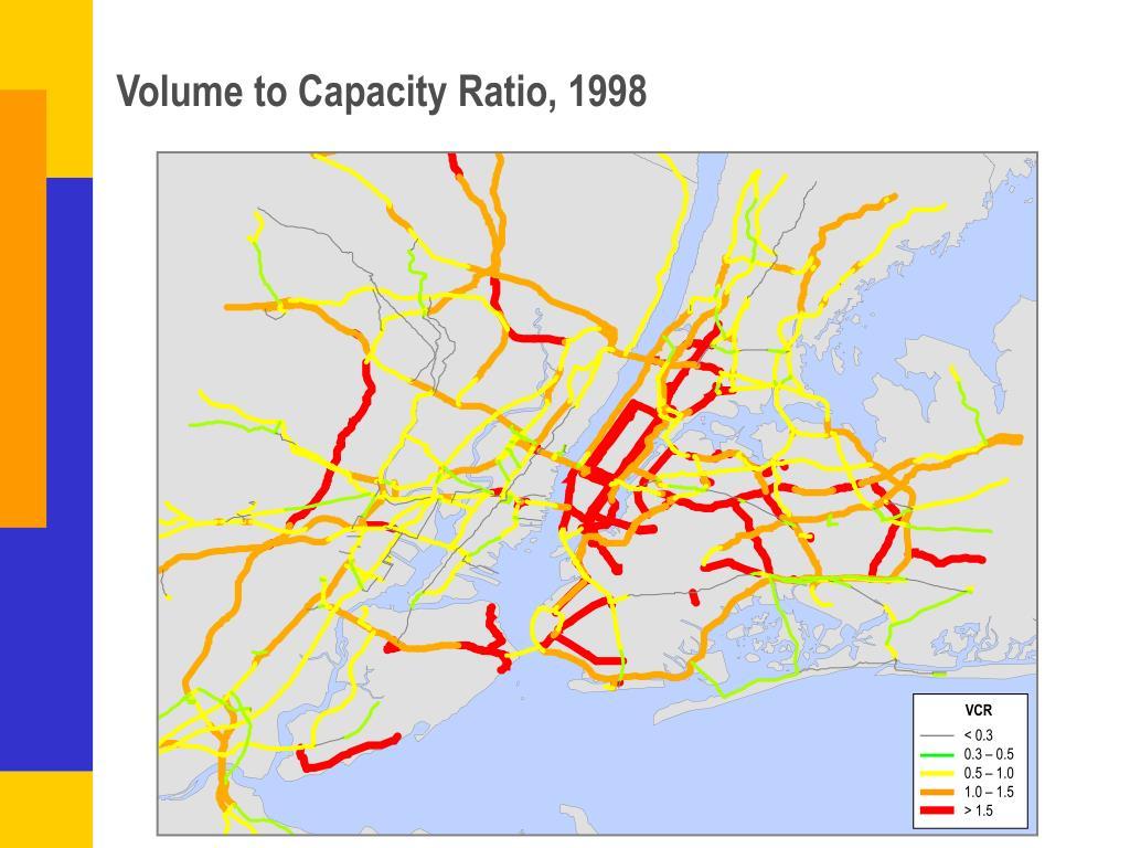 Volume to Capacity Ratio, 1998