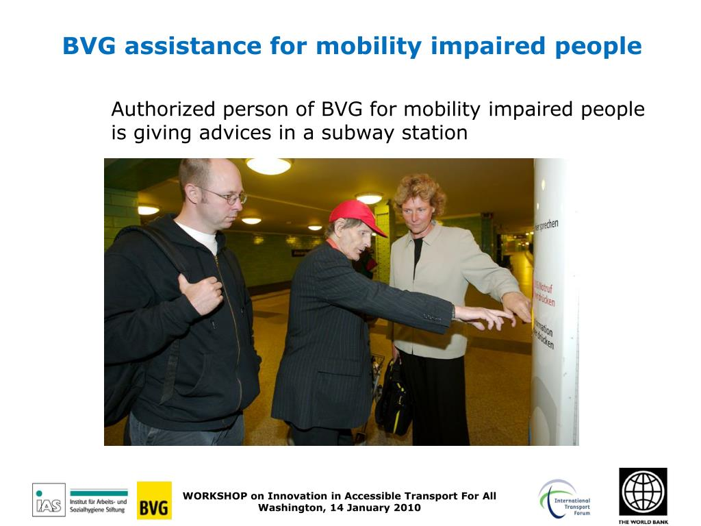 BVG assistance for mobility impaired people