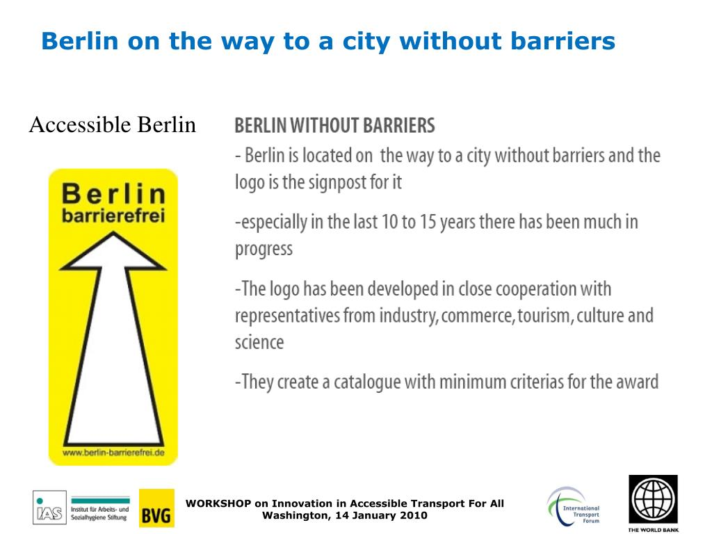 Berlin on the way to a city without barriers