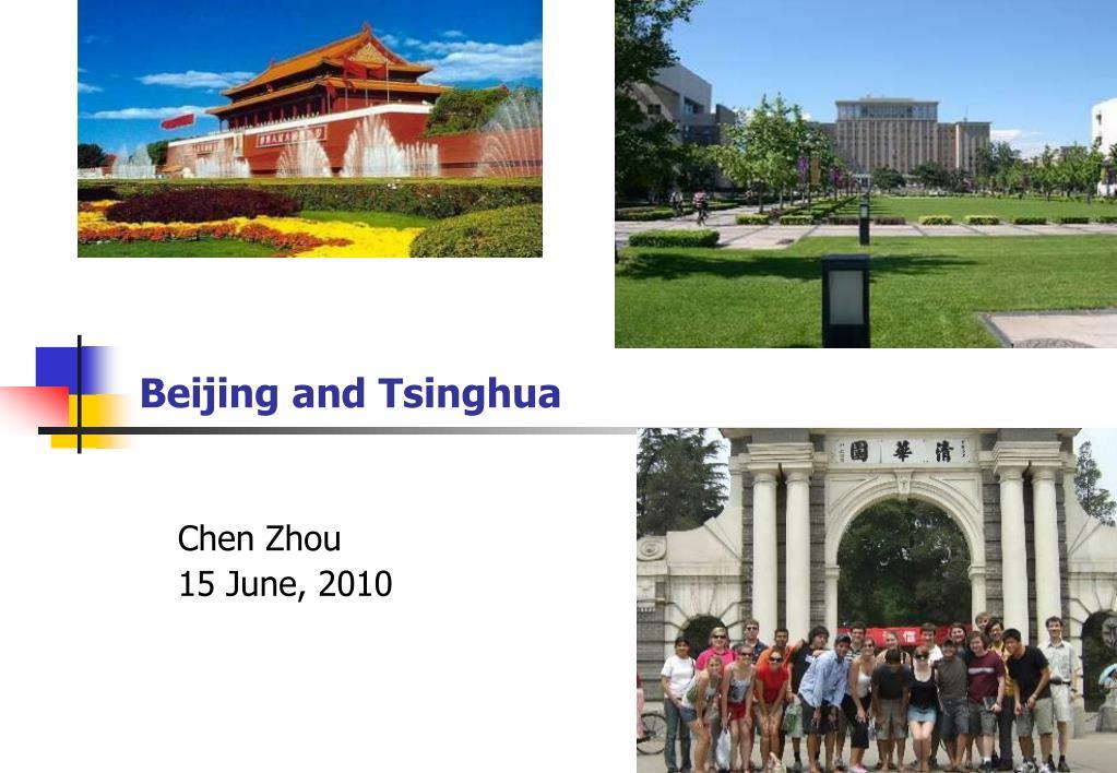beijing and tsinghua l.