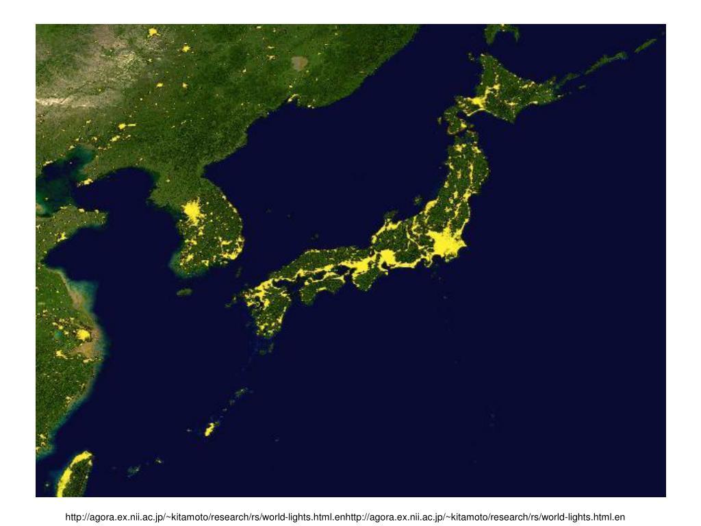 http://agora.ex.nii.ac.jp/~kitamoto/research/rs/world-lights.html.enhttp://agora.ex.nii.ac.jp/~kitamoto/research/rs/world-lights.html.en