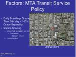 factors mta transit service policy