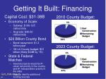 getting it built financing