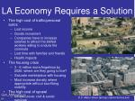 la economy requires a solution