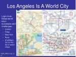 los angeles is a world city