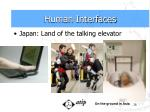 human interfaces16