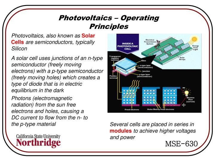 Photovoltaics – Operating Principles
