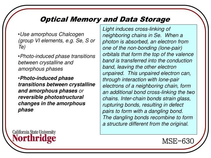Optical Memory and Data Storage
