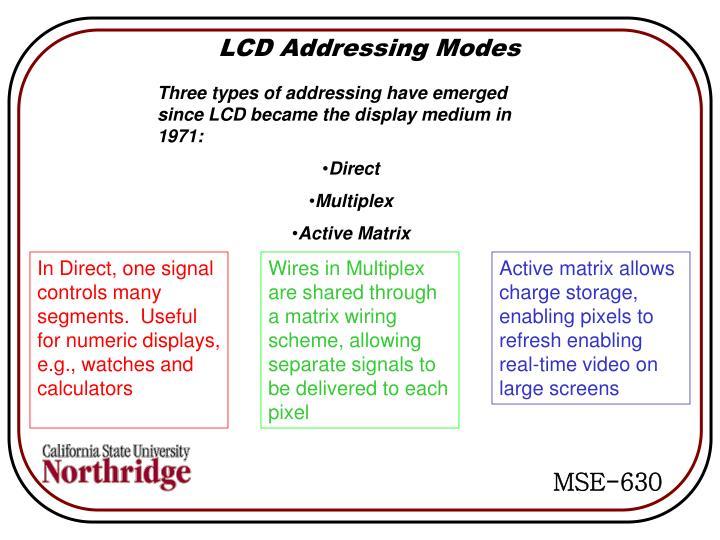 LCD Addressing Modes