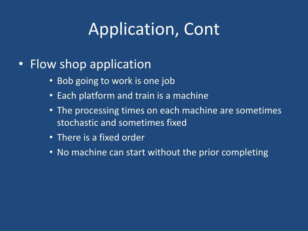 Application, Cont