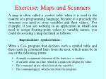exercise maps and scanners