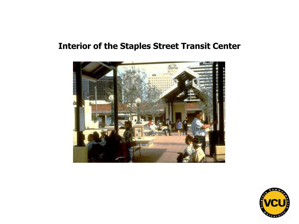 Interior of the Staples Street Transit Center