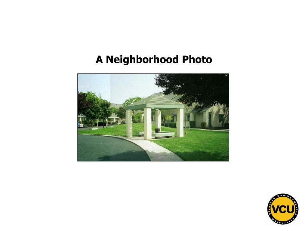 A Neighborhood Photo