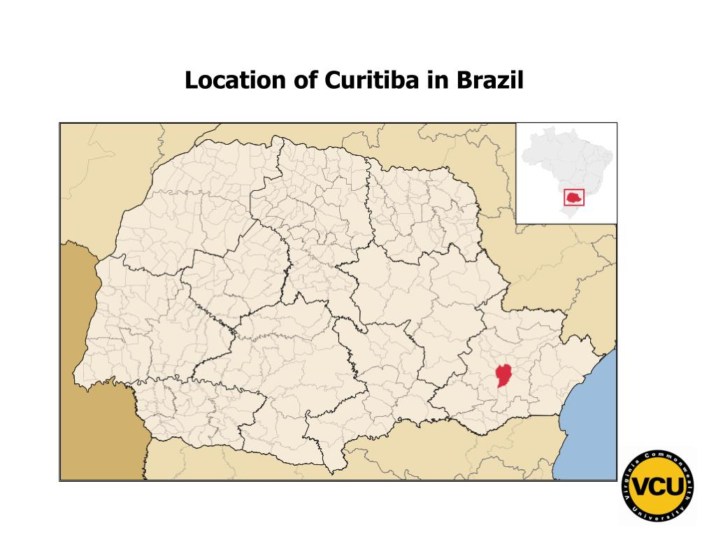 Location of Curitiba in Brazil