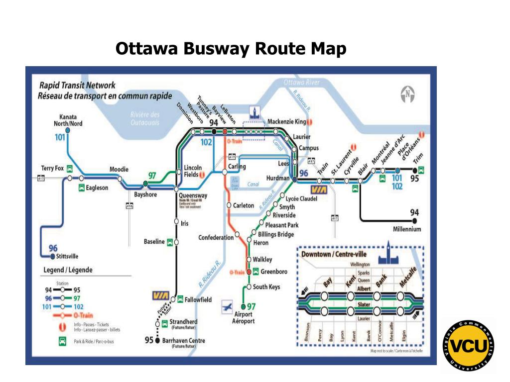Ottawa Busway Route Map