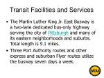 transit facilities and services28