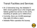 transit facilities and services65