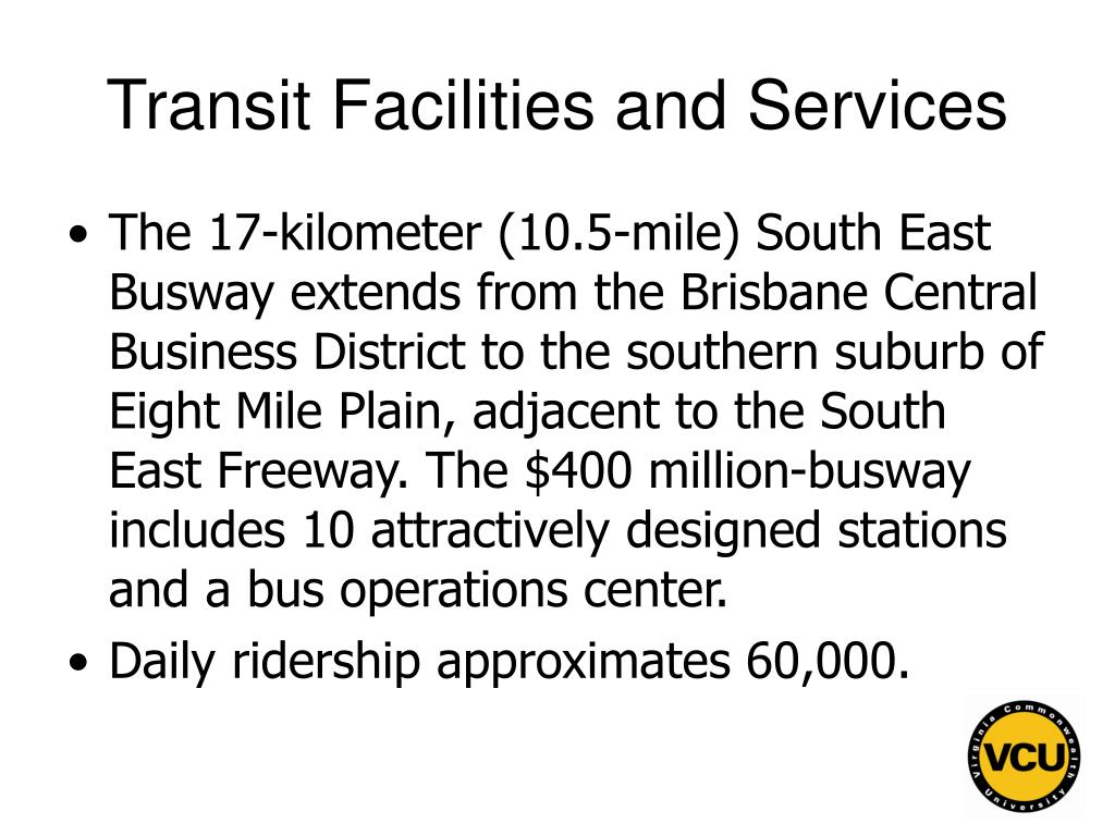 Transit Facilities and Services