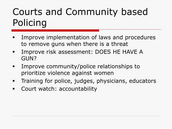 Courts and Community based Policing