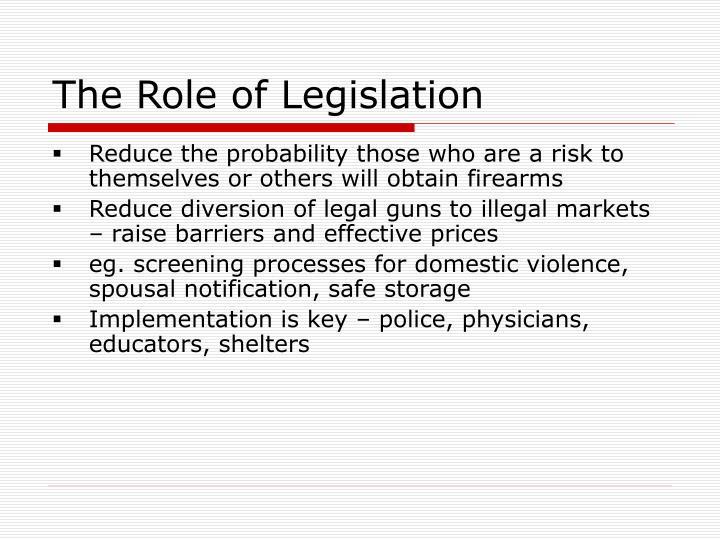 The Role of Legislation
