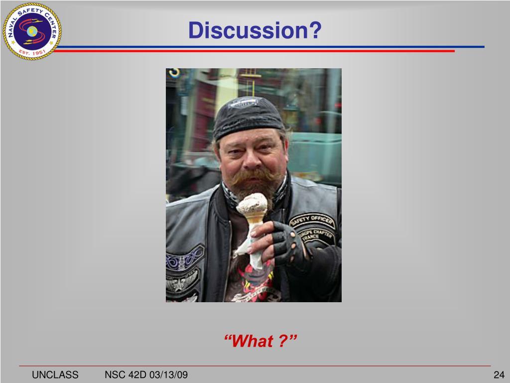 Discussion?