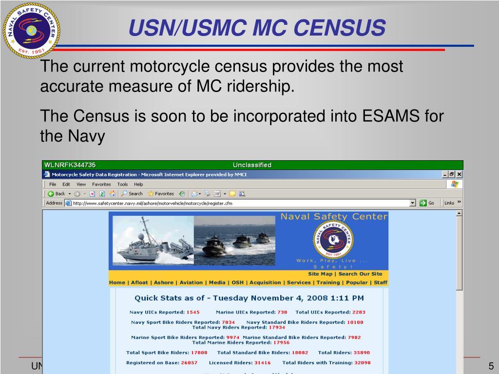 USN/USMC MC CENSUS