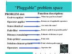 pluggable problem space