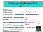 setting up algebra problem solver80