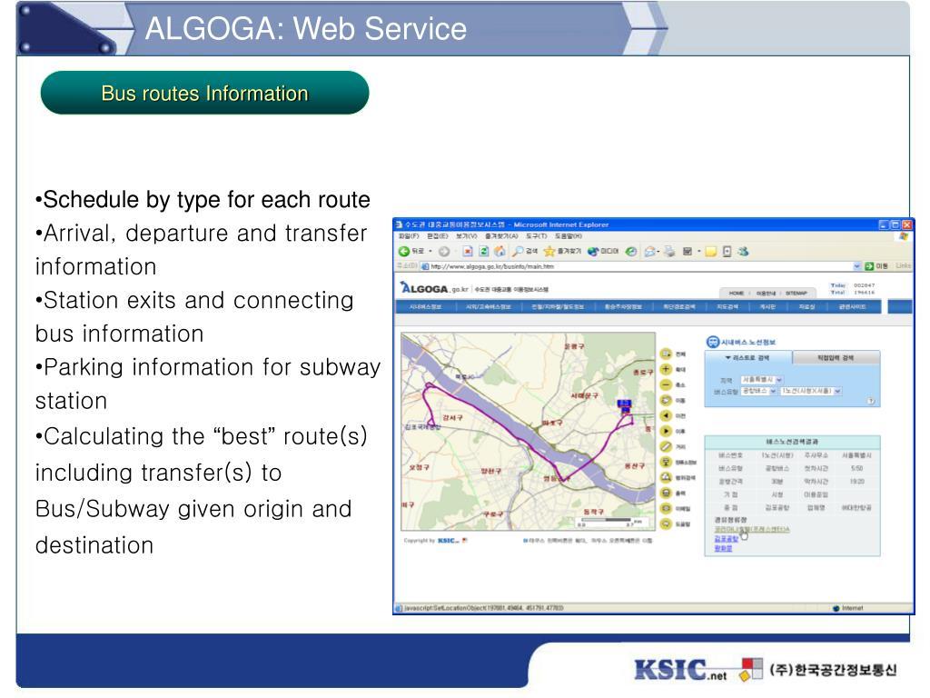 ALGOGA: Web Service