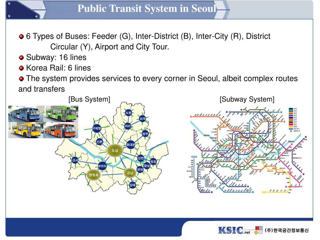 Public Transit System in Seoul