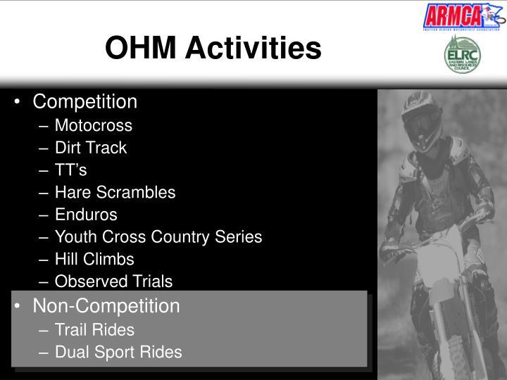 Ohm activities