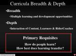 curricula breadth depth