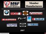 member manufacturers