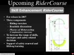 upcoming ridercourse