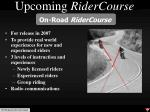 upcoming ridercourse29