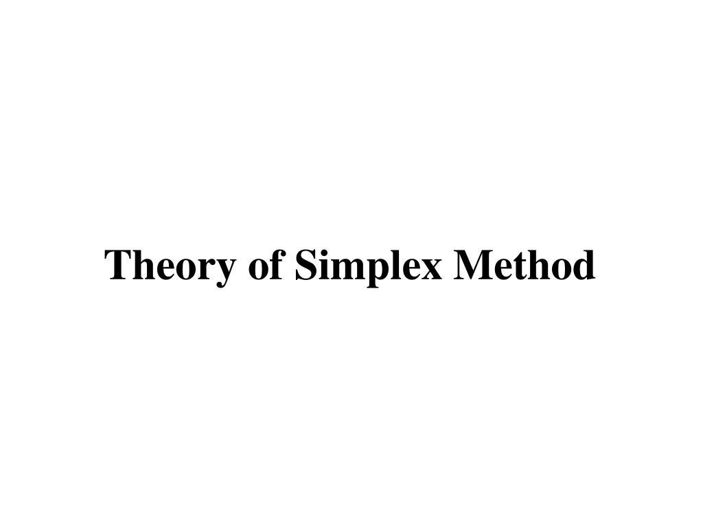 Theory of Simplex Method