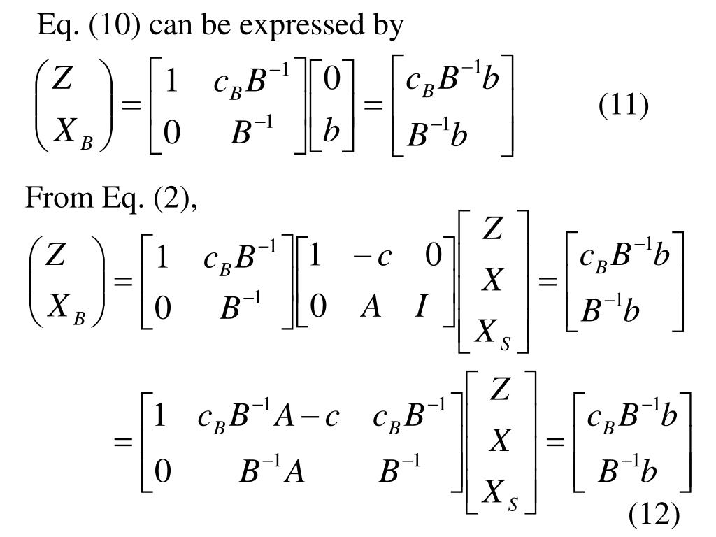 Eq. (10) can be expressed by